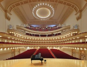 View of the interior of Carnegie Hall