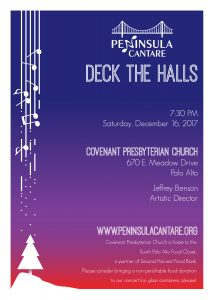 "Concert poster for the December 16, 2017 ""Deck the Halls"" concert"